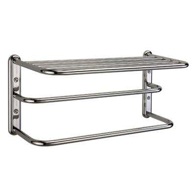 21.6 in. W Shelf with Spa Towel Rack and Bars in Chrome