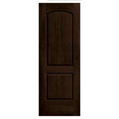 32 in. x 80 in. Continental Espresso Stain Solid Core Molded Composite MDF Interior Door Slab