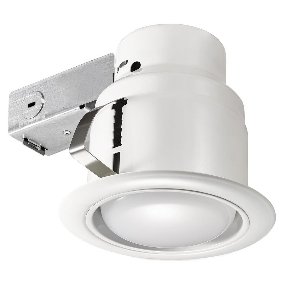 Recessed Lighting Electric Bill : Globe electric led glare control in white recessed kit
