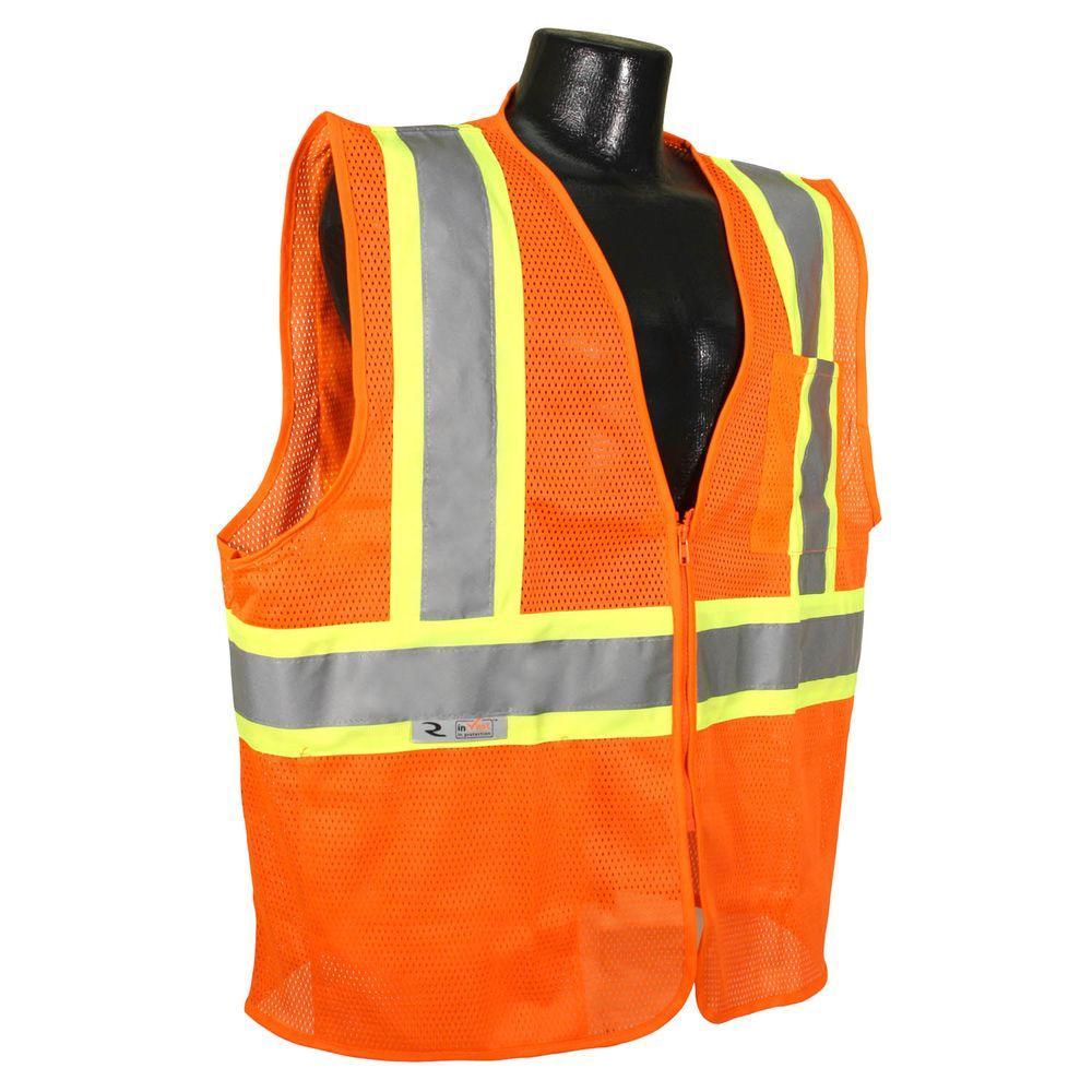 Radians Fire Retardant with Contrast Orange Mesh Medium Safety Vest