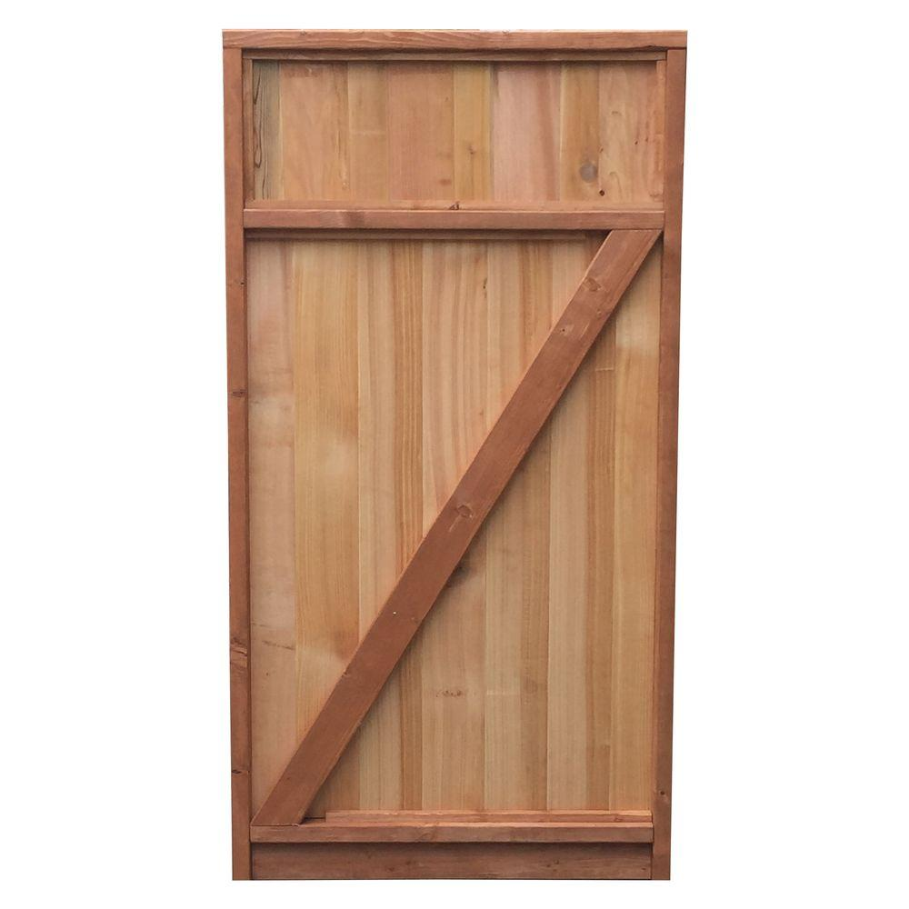 Signature Development 3 ft. x 6 ft. Western Red Cedar Solid Top Fence Gate