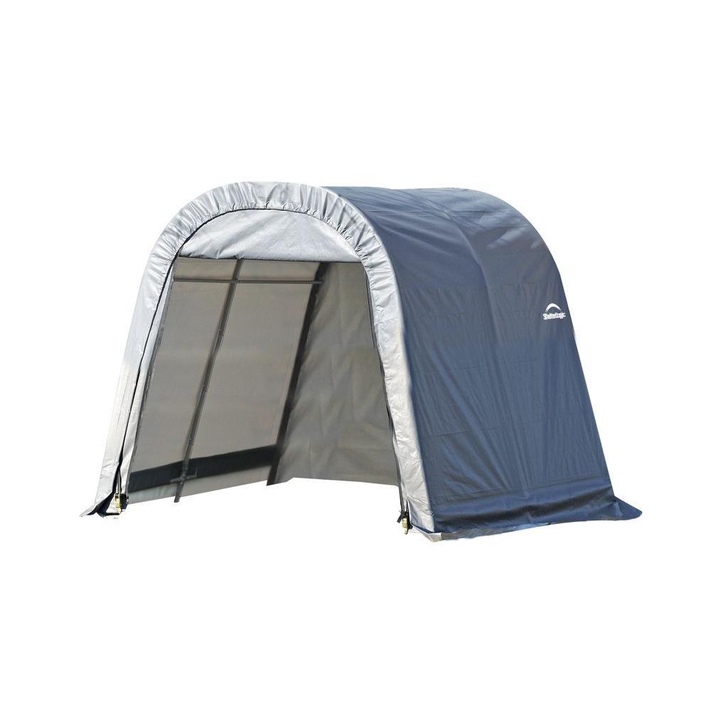 ShelterLogic 10 ft. x 8 ft. x 8 ft. Grey PE Garage without ...