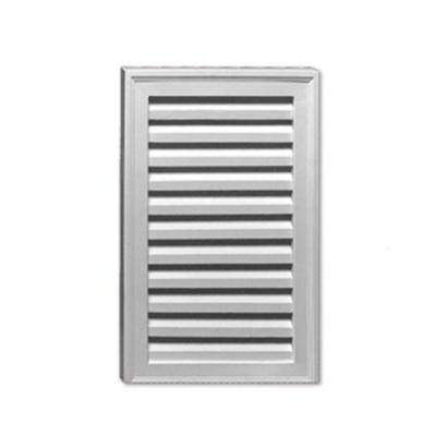 18 in. x 24 in. x 1-5/8 in. Polyurethane Functional Vertical Louver Gable Vent with No Sill