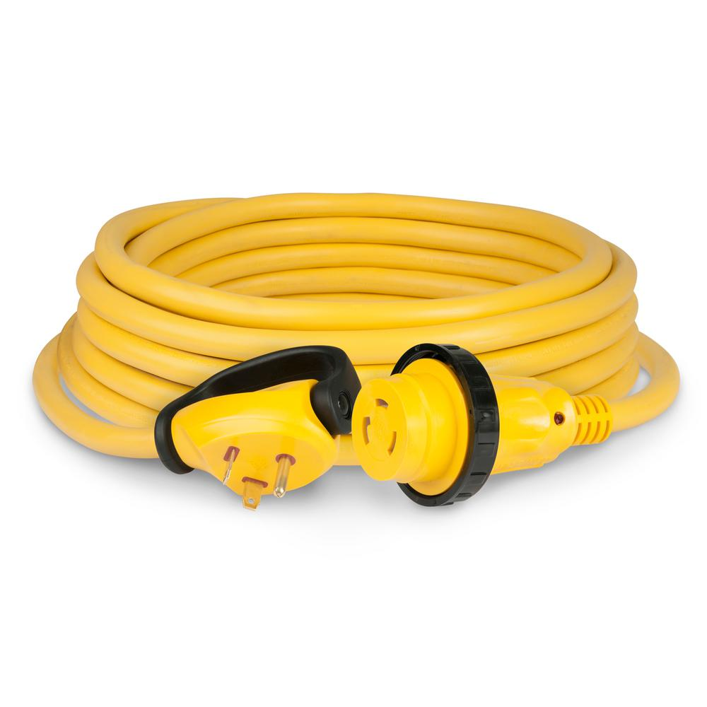 Parkpower 25 Ft 30 Amp Power Cord With Rv End Male 25spprv The 15 To 37 Volt Supply