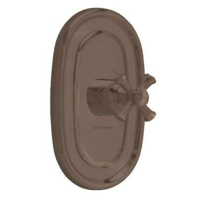 Portsmouth 1-Handle Central Thermostat Valve Trim Kit in Oil Rubbed Bronze with Cross Handle (Valve Sold Separately)