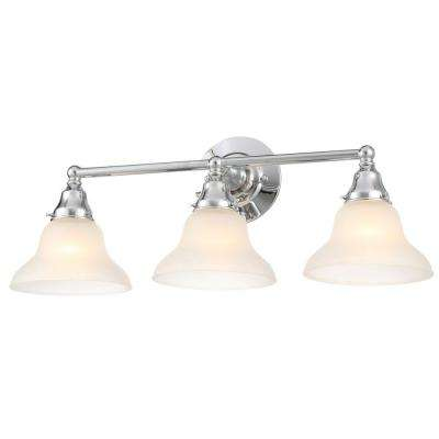 Asten Collection 3-Light Chrome Bath Bar Light