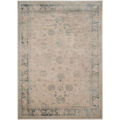 Vintage Stone/Blue 5 ft. x 8 ft. Area Rug