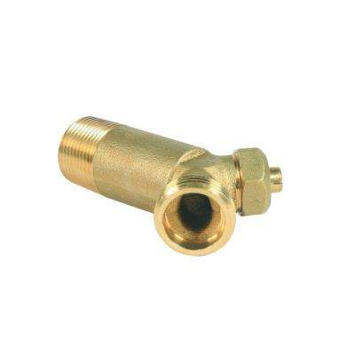 3/4 in. NPT x 3/4 in. Solid Brass Water Heater Drain Valve