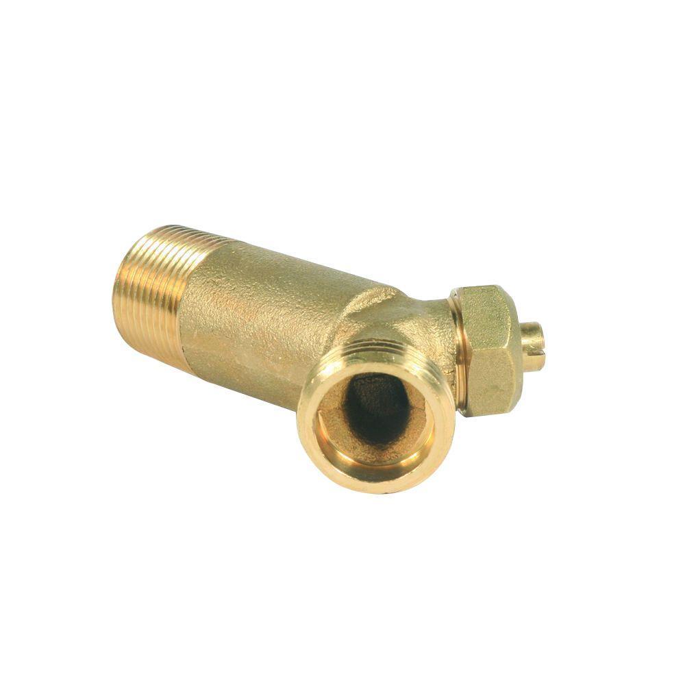 3/4 in. NPT x 3/4 in. Solid Brass Water Heater Drain Valve