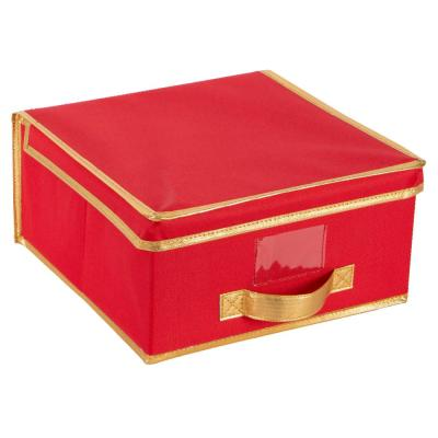 Holiday Polyester Christmas Storage Box in Red