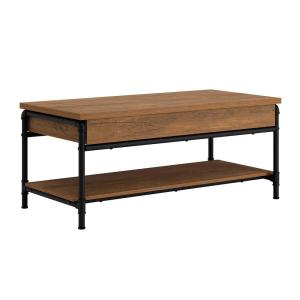 Iron City 41.969 in. L Checked Oak 18.031 in. H Rectangle Engineered Wood Lift-Top Coffee Table