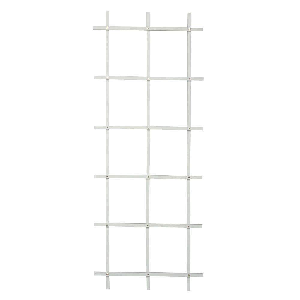 5 ft. White Composite Foldable Ladder Trellis