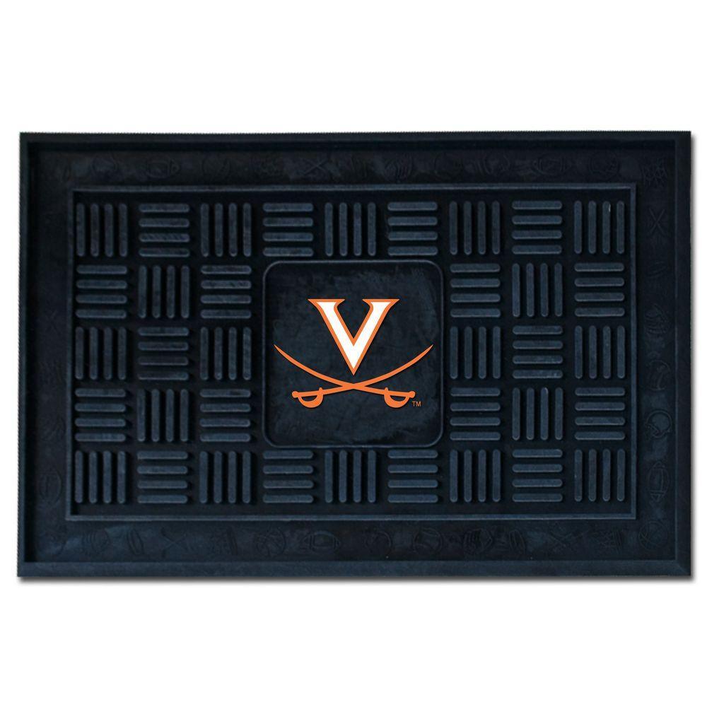 NCAA University of Virginia 19 in. x 30 in. Vinyl Door Mat