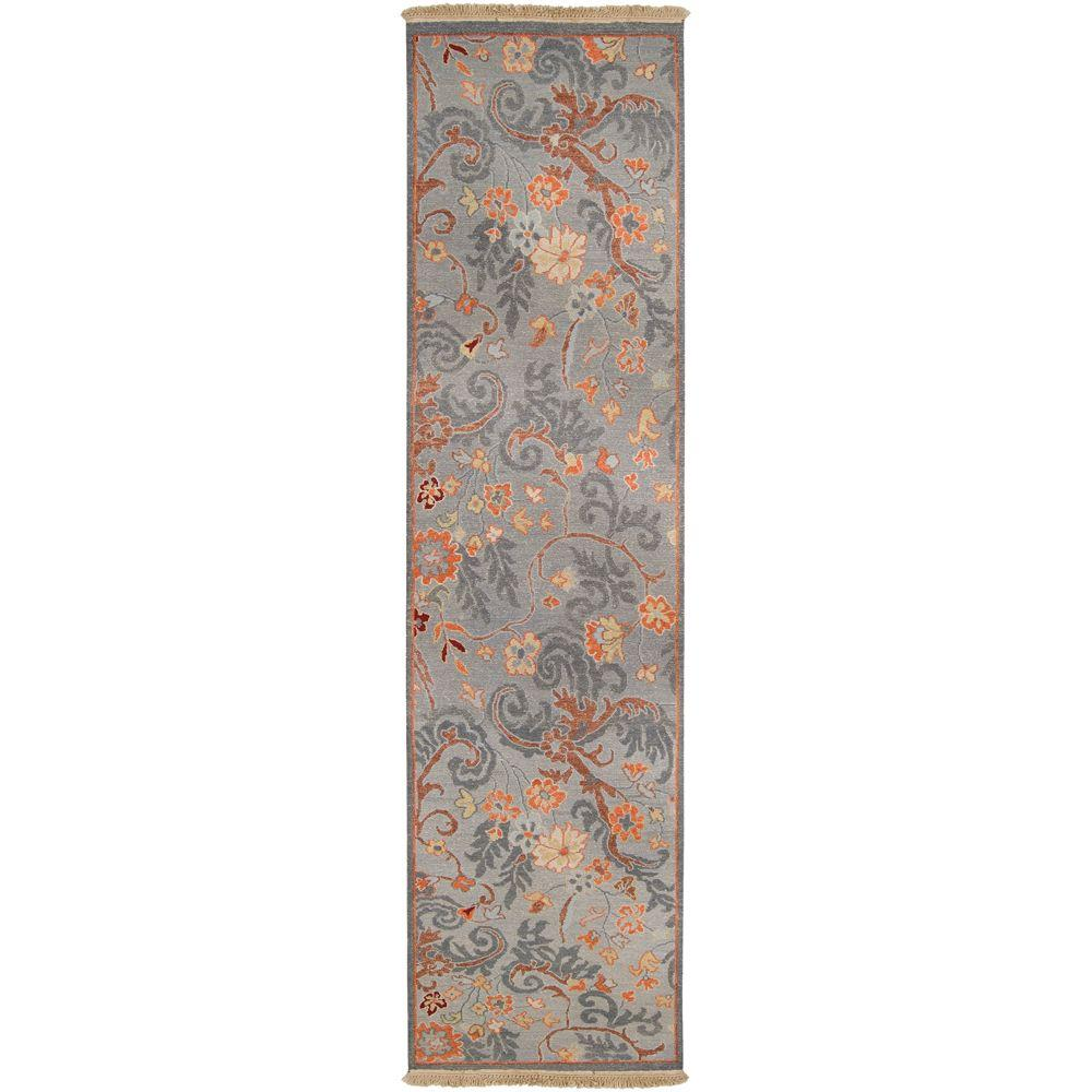 Artistic Weavers Cabos Gray-Blue 2 ft. 6 in. x 10 ft. Runner