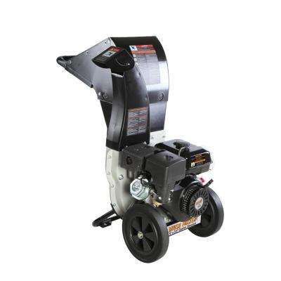 5.25 x 3.75 in. 445cc Gas Powered  Self Feed Chipper Shredder with Unique Innovation 3-in-1 Discharge, Gloves, Goggles