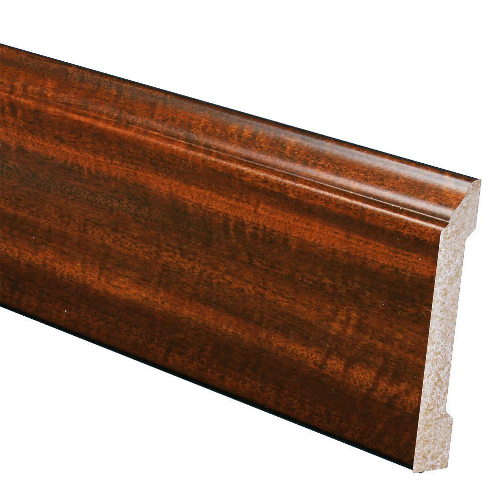 Inteplast Building Products 1/2 in. x 4-3/16 in. x 96 in. Polystyrene Mahogany Base Moulding (5-Pack)