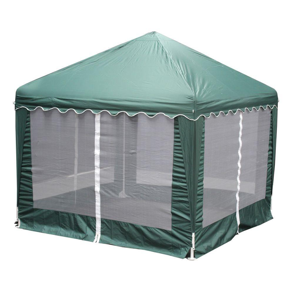 King Canopy Garden Party 10 Ft W X 10 Ft D Green Gazebo