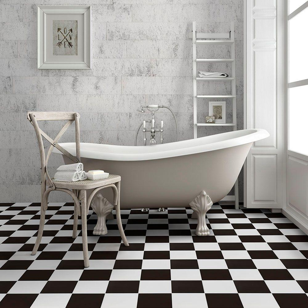 Merola Tile Checker 17 5 8 In X 17 5 8 In Ceramic Floor And Wall Tile 11 02 Sq Ft Case