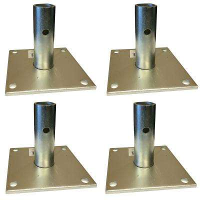 5 in. x 5 in. Scaffolding Base Plate Set (4-Piece)