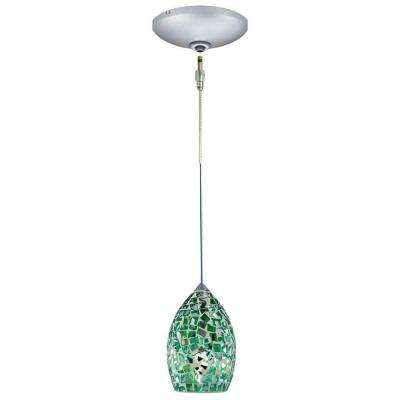 Low Voltage Quick Adapt 4-5/8 in. x 104-3/4 in. Emerald Pendant and Canopy Kit