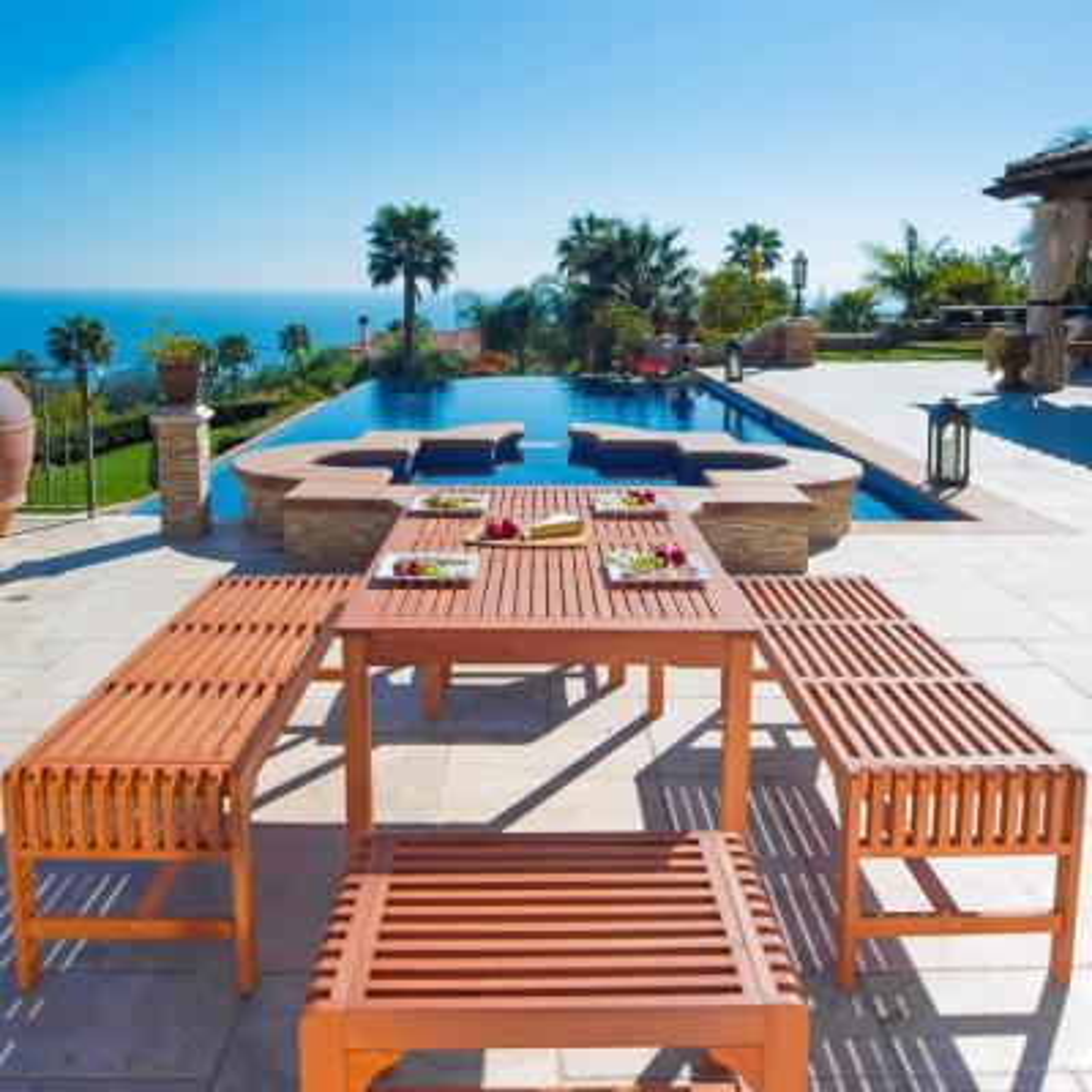 Malibu 5-Piece Wood Outdoor Dining Set
