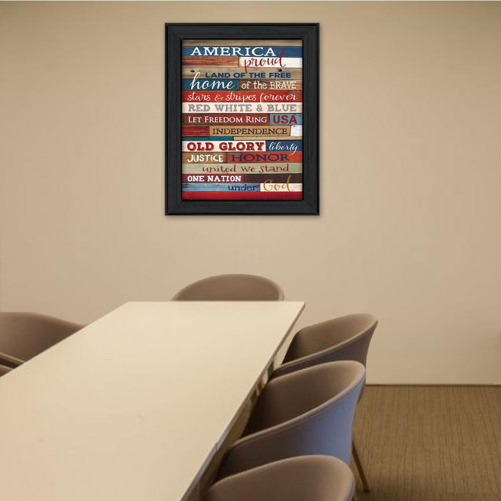 26 in x 20 in america proud by marla rae printed framed wall art