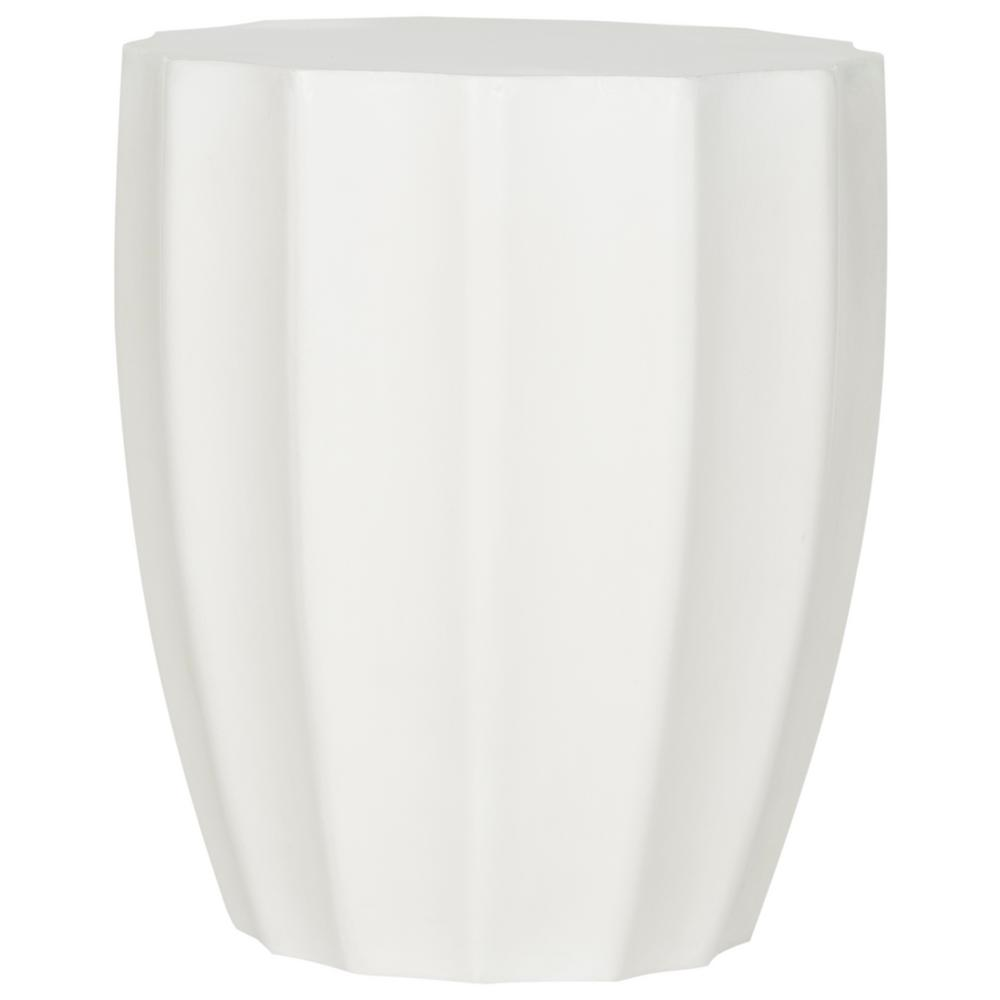 Jaslyn Ivory Round Stone Indoor/Outdoor Accent Table