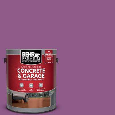 1 gal. #OSHA-4 OSHA SAFETY PURPLE Self-Priming 1-Part Epoxy Satin Interior/Exterior Concrete and Garage Floor Paint