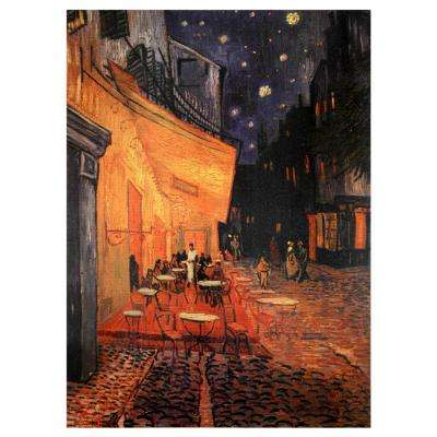 "Oriental Furniture 32 in. x 24 in. ""Cafe Terrace on the Place du Forum"" Canvas Wall Art"