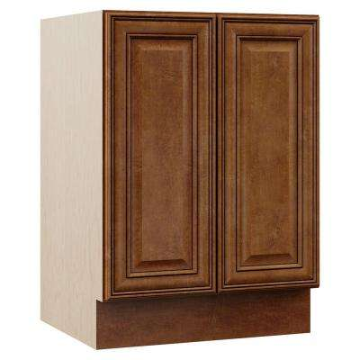 Oxford 24 in. W x 21.5 in. D x 33.5 in. H Bath Vanity Cabinet Only in Toasted Almond