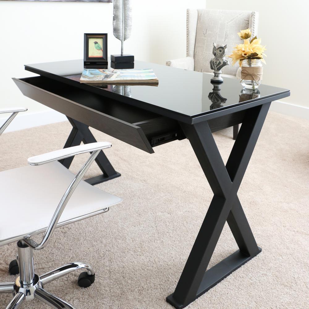 Xtra Black Desk with Storage