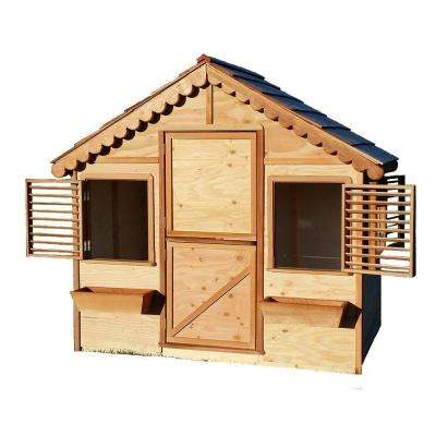 4 ft. x 6 ft. Little Alexandra's Cottage Playhouse Kit with Cedar Roof
