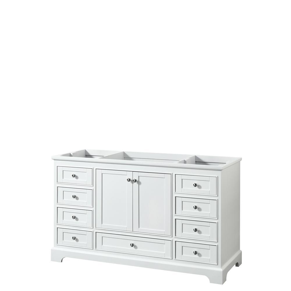 Deborah 59.25 in. W x 21.5 in. D Vanity Cabinet in White