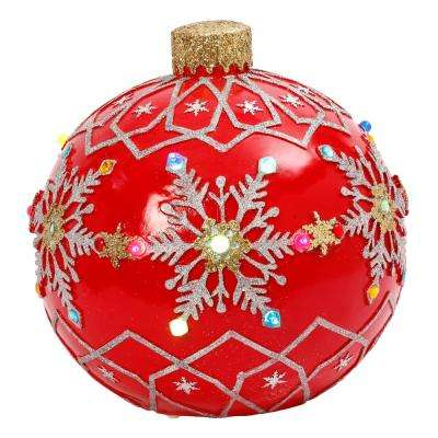 18 in. H Electric Red Ornament