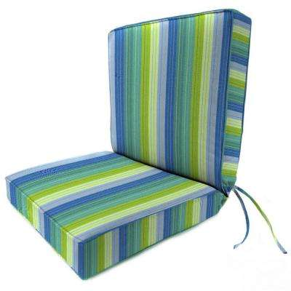 Sunbrella Seaside Seville Outdoor Dining Chair Cushion