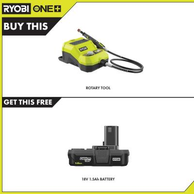 18-Volt ONE+ Cordless Rotary Tool with 1.5 Ah Compact Lithium-Ion Battery