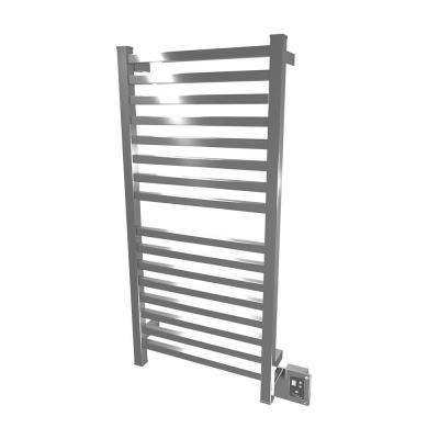 Quadro Q-2042 20.5 in. W x 42.75 in. H 16 Bars Towel Warmer in Polished Stainless Steel