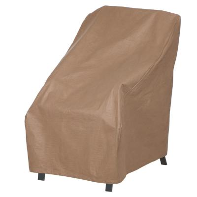 Essential 28 in. W x 35 in. D x 35 in. H Latte High Back Chair Cover