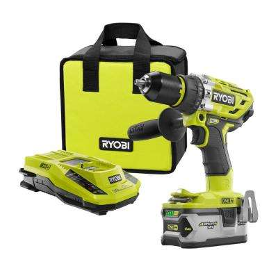 18-Volt ONE+ Lithium-Ion Cordless Brushless 1/2 in. Hammer Drill/Driver Kit with 4.0Ah LITHIUM+ Battery, Charger and Bag