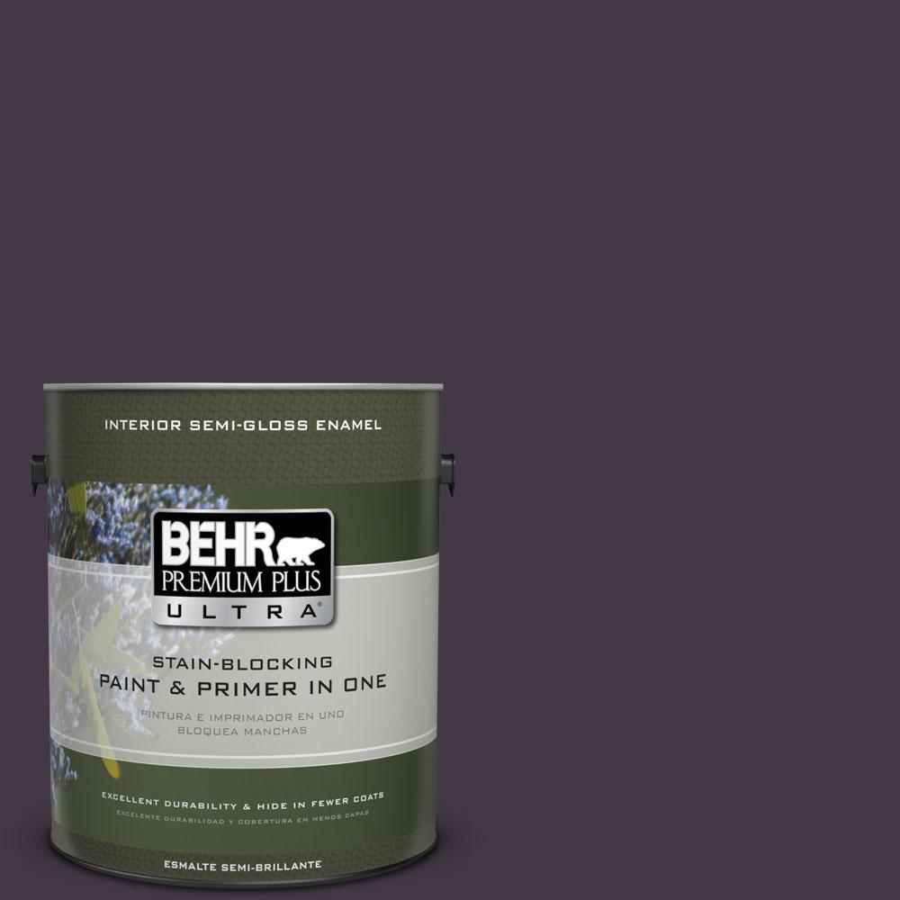 BEHR Premium Plus Ultra 1-gal. #ECC-17-3 Napa Harvest Semi-Gloss Enamel Interior Paint