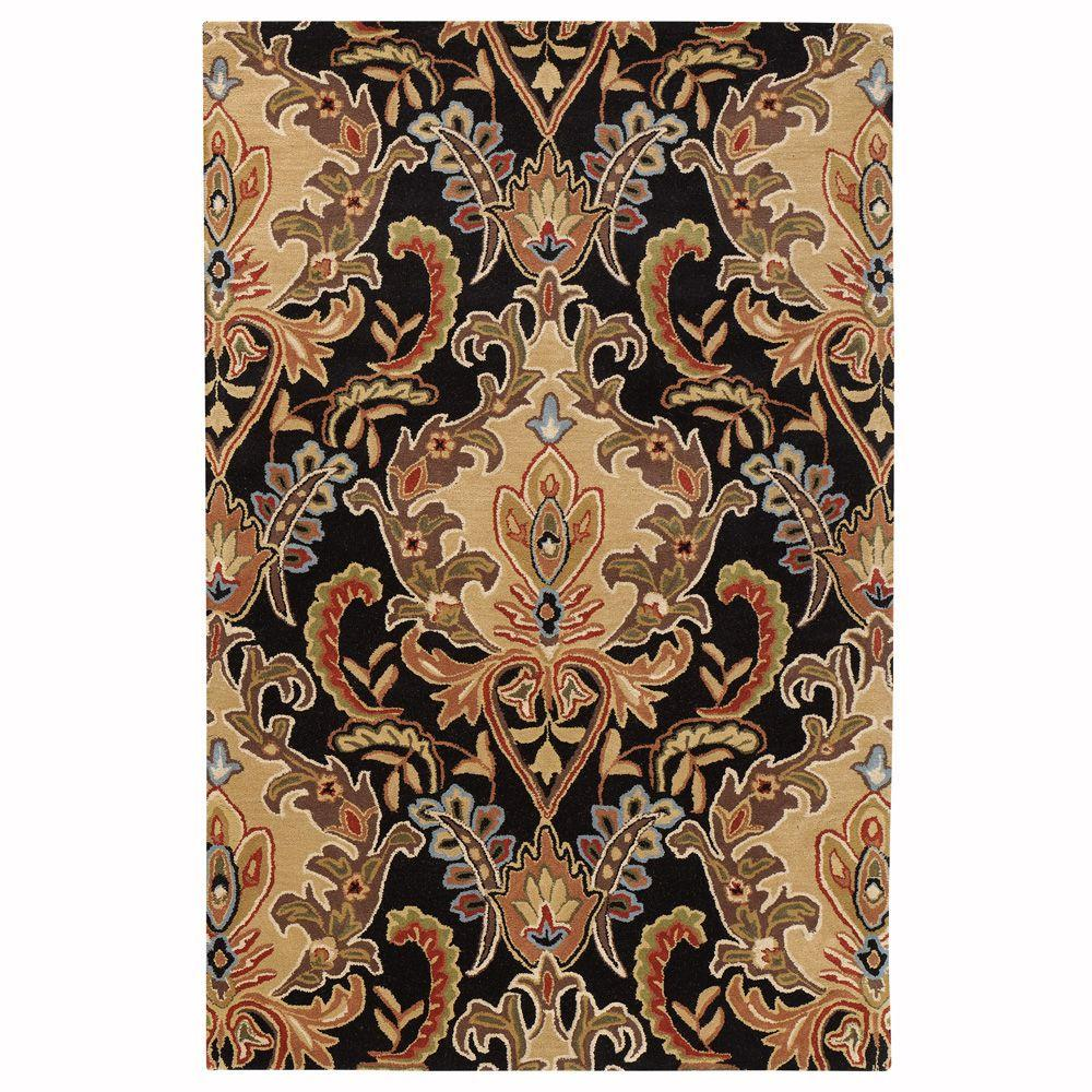 Home Decorators Collection Natal Black 2 ft. 6 in. x 8 ft. Area Rug