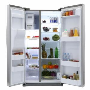 Samsung 245 Cu Ft Side By Side Refrigerator In Stainless Steel