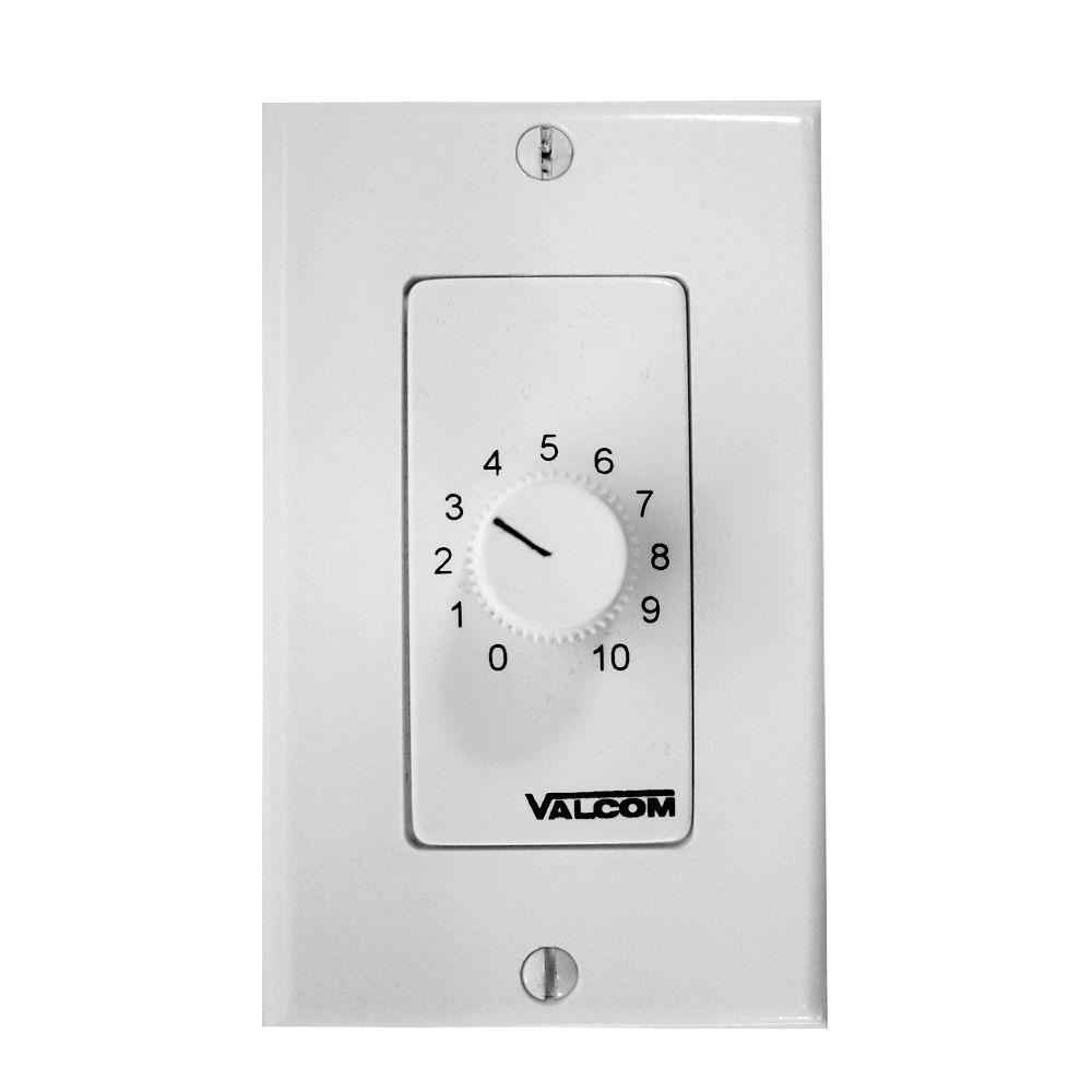 Wall Mount Volume Control - White