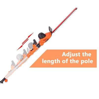 4.8 Amp Multi-Angle Corded 2-in-1 Pole and Portable Hedge Trimmer with 20 in. Laser Blade