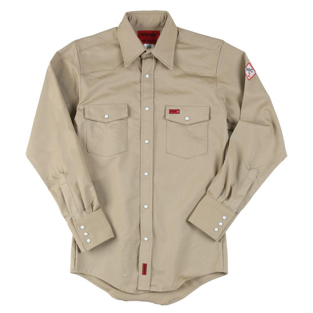 Wrangler Medium Men's Flame Resistant Basic Work Shirt-DISCONTINUED