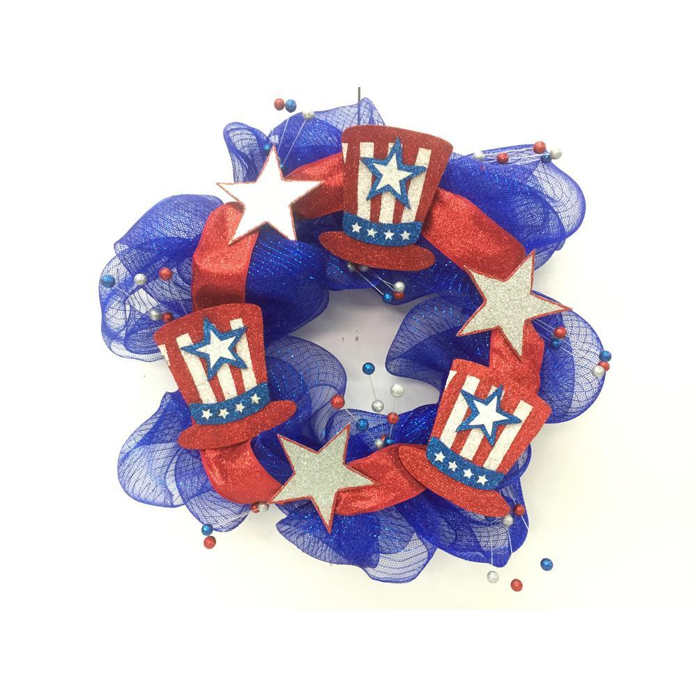 24 in. Patriotic Wreath Hat