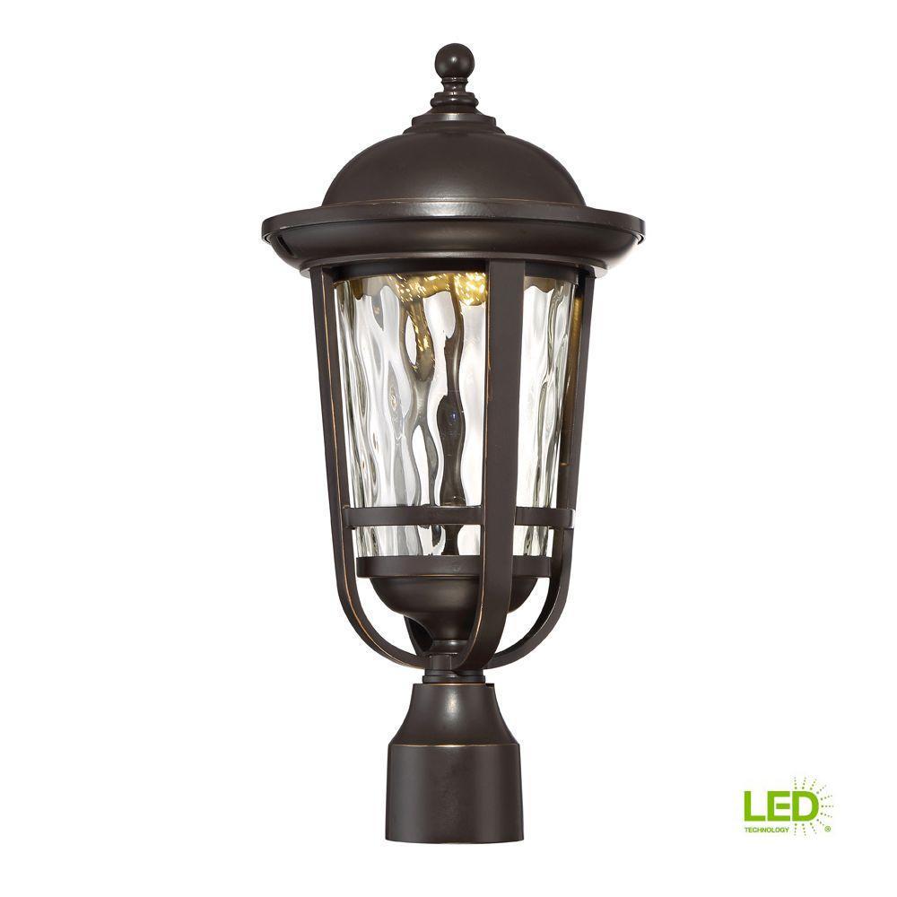 Designers Fountain Westbrooke Aged Bronze Patina Outdoor Led Post Lantern