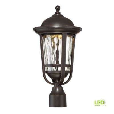 Westbrooke Aged Bronze Patina Outdoor LED Post Lantern