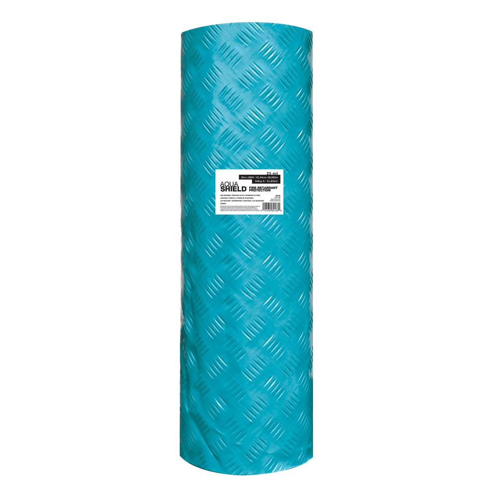 Trimaco Aqua Shield 36 in. x 186 ft. 25mil Ultimate Surface Protector