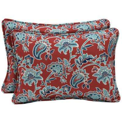 Caspian Oversized Lumbar Outdoor Throw Pillow (2-Pack)